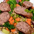 Sausage with Lentils & Kale – $10 or Less Meal (Rich, Hearty, 30-Minutes & Gluten Free)